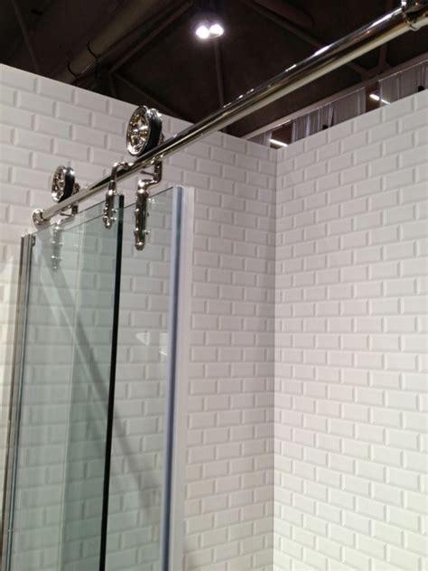Bathroom Glass Barn Doors Barn Door Style Shower Doors Diy Shower