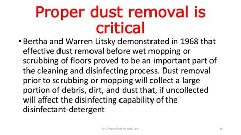 Disinfecting Hospital Floors - floor disinfection in health care