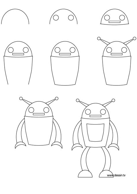 Drawing Robot by Simple Robot Sketches Www Imgkid The Image Kid Has It