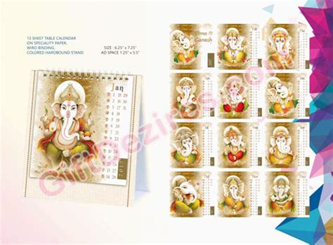 Calendar Ganesh Promotional Table Calendar Ganesha Gd 102467 Corporate