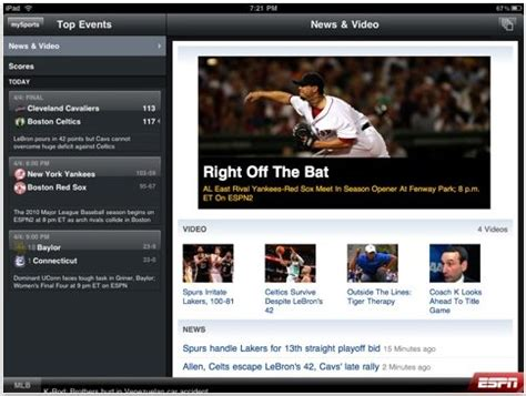 espn sports network live streaming comes to apple devices