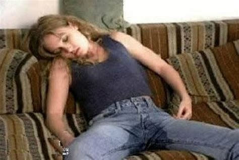 girl peeing on the couch funniest sleeping positions possible