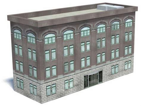 free paper model buildings downloads railroad model buildings office building kit b424