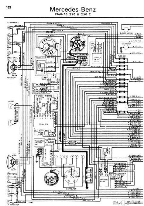 repair manuals mercedes 250 1968 70 wiring diagrams
