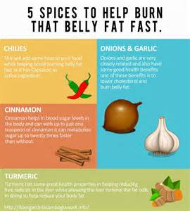 the belly 5 spices that burn belly fast