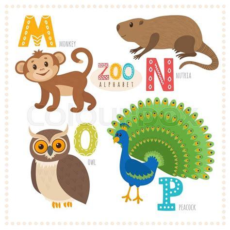 cute cartoon animals zoo alphabet  funny animals
