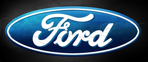 how to draw the ford logo step by step symbols pop