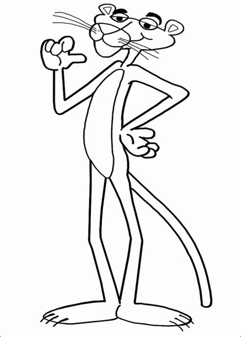pink panther coloring pages coloringpagesabc com