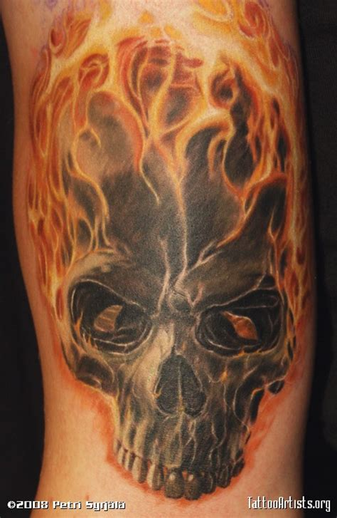 fire skull tattoo designs skull artists org