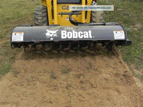 bobcat landscape rake 2012 bobcat 76 quot roto tiller attachment for skid steer loader landscape rake