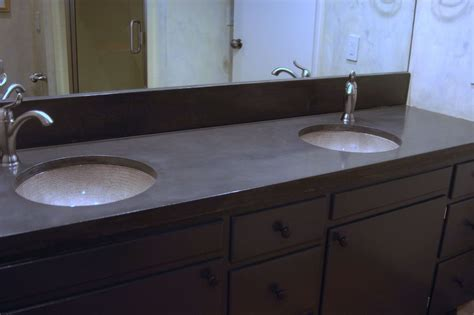 Matching Backsplash To Countertop by Crafted Concrete Vanity Countertop With Matching