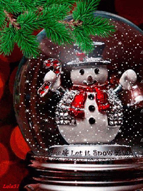 merry christmas snow ball animated gif speakgif