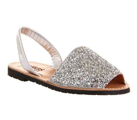 womens solillas solillas sandal silver glitter sandals