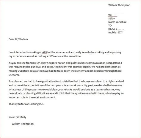 cover letter for any open position best photos of cover letter for any position