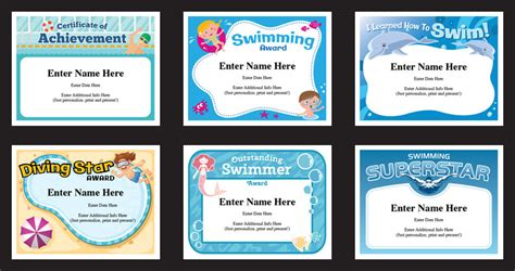 certificate templates for swimming awards swimming certificates templates swim awards swimming coach