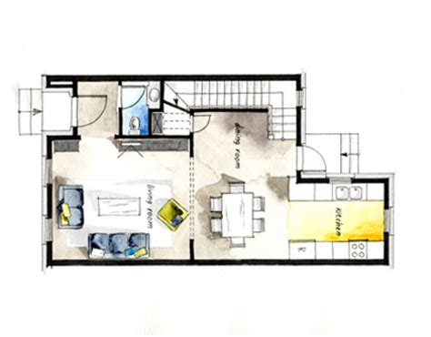 real estate watercolor 3d floor plan i on behance real estate watercolor 2d floor plans part 2 on behance