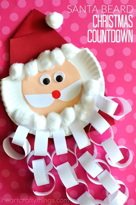 christmas countdown craft santa beard countdown craft i crafty things
