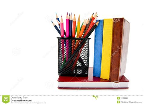 pictures of books and pencils books and pencils stock photo image 19152040