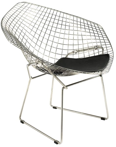 Danish Style Armchair Harry Bertoia Style Wire Diamond Lounge Chair Style