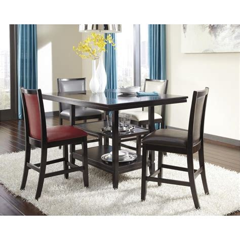 trishelle counter height dining table d550 32 ashley furniture rectangular dining room counter table
