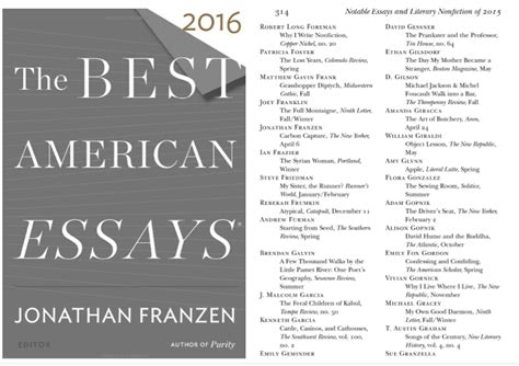 Great American Essays by The Best American Essays Of The Century Sparknotes Great American Essays A Best American Essay