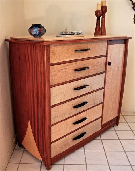 Handmade Dressers - handmade dresser in curly maple bubinga contemporary