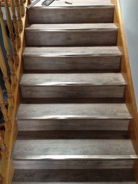 direct floor coverings rustic grey 5mm waterproof vinyl planks clic lock on stairs direct