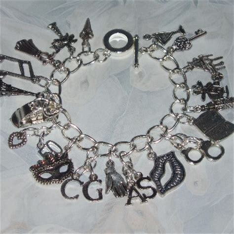 50 shades of grey charm bracelet with 20 charms on a