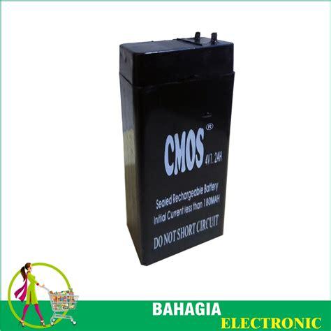 Baterai Kering Untuk Lu Emergency jual baterai cmos 4 volt 1 2 ah aki kering batre