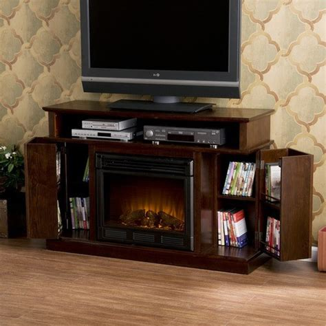 modern tv stand with fireplace julian 48 quot tv stand with electric fireplace modern