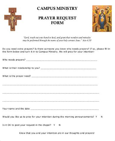 prayer request template sle prayer request form 10 exles in word pdf