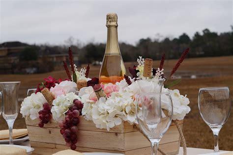 wooden crate wedding centerpieces rustic wine themed wooden crate diy wedding centerpiece