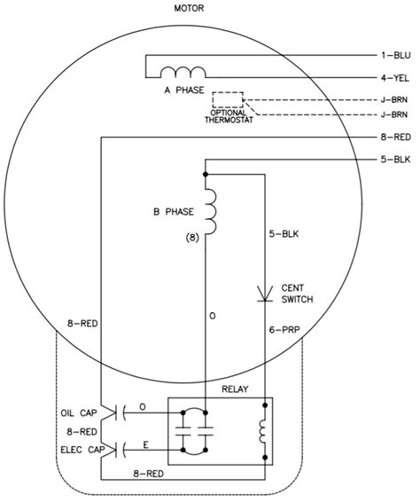 single phase motor wiring diagram with capacitor wiring
