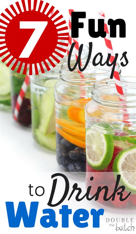 7 Ways To Drink More Water by 7 Ways To Drink More Water The Batch