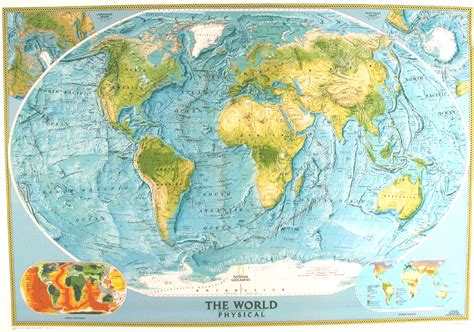 geography map physical world map by national geographic