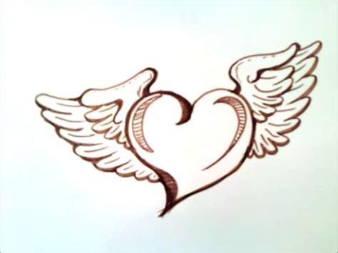 imagenes de corazones bellos como dibujar un corazon con alas paso a paso como