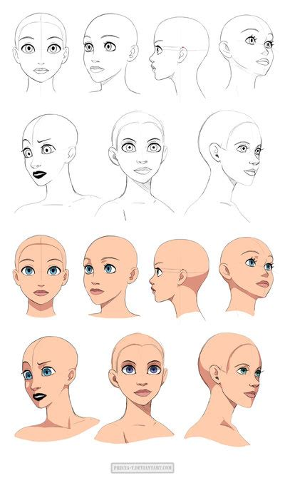 disney hairstyles drawing disney style heads angles by precia t on deviantart