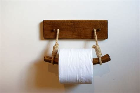 toilet paper holder wood toilet paper holder bespoke wooden rustic look home
