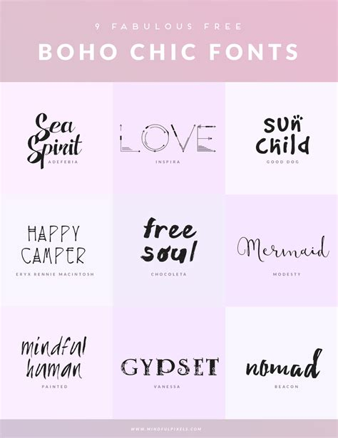 9 free boho chic fonts mindful pixels
