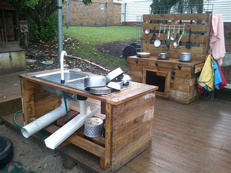 build outdoor with pallets pallet kitchen near our sandpit my projects