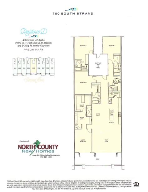 Waterfront Floor Plans by New Waterfront Condos In Oceanside 700 South Strand