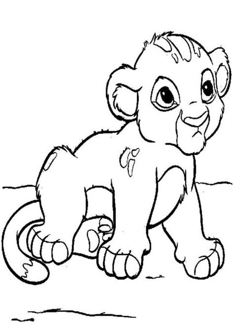 coloring page lion cub baby lion coloring pages coloring home