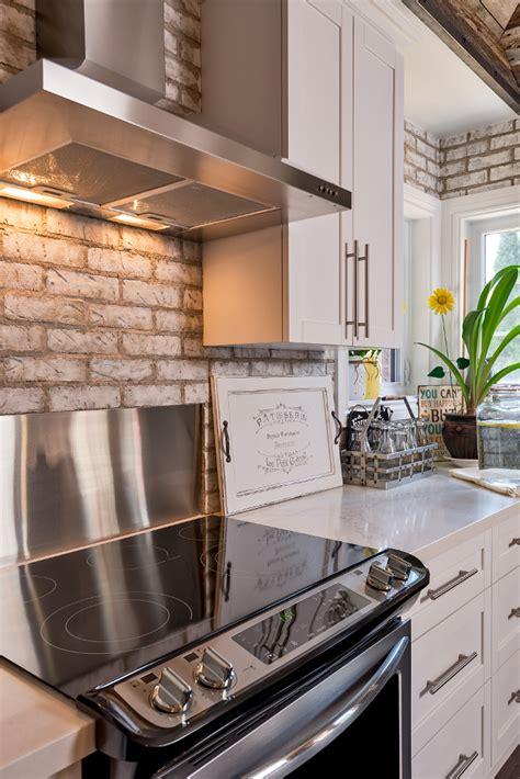 brick backsplash interior design ideas whitewashed brick reclaimed barn wood shiplap interiors