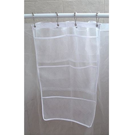 Rust Proof Shower Curtain Hooks hanb mesh shower caddy organizer hang on shower curtain