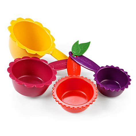 Green Leaf Polycarbonate Measuring Cup Ii Gelas Ukur Plastik 500 Ml view kizmos flora 4 measuring cup set deals at big lots