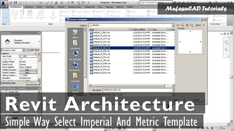 Simple Way Select Revit Architecture Imperial And Metric Template Youtube Revit Family Template