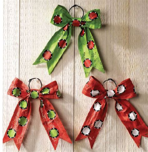 bow christmas ornaments happy holidayware