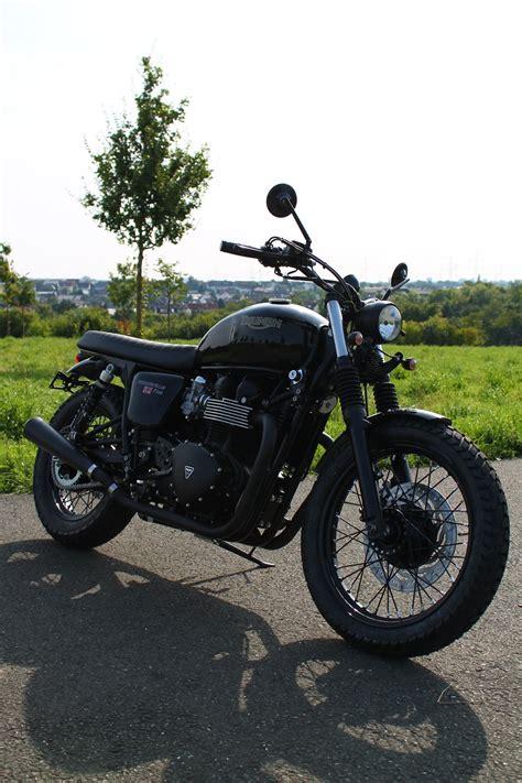 Triumph Motorrad Mieten Frankfurt by Umgebautes Motorrad Triumph Bonneville T100 Black