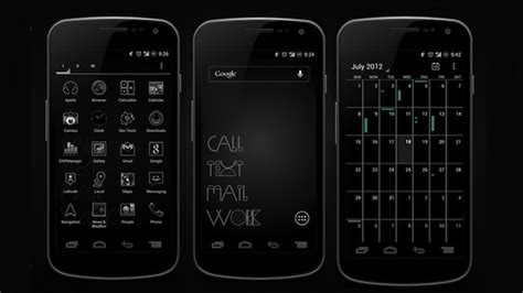 themes for android white the white on black home screen