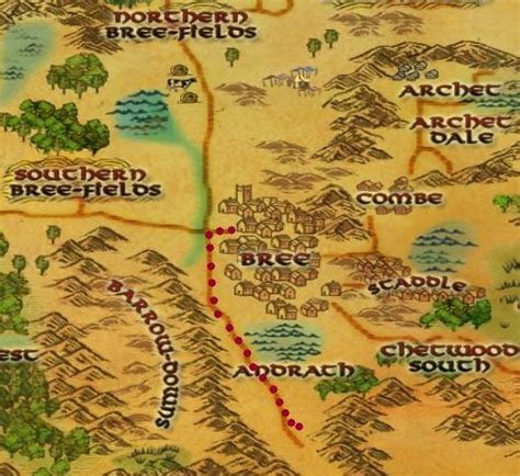 lotro old forest map lotro maps for bree land